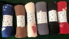 Premium Soft Fleece Paw Pattern Dog/Cat Blanket 30x24 Lot of 2 blankets