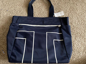 TORY BURCH SPORT T LARGE NYLON TOTE/CROSSBODY BLUE NWT AUTHENTIC FREE SHIPPING