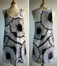 FRENCH CONNECTION White Black Beaded Dress Retro 60s Vintage Inspired Size 10