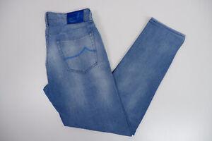 """Jacob Cohen 688 Mens Slim Fit Jeans, W35"""" L32"""" Stonewash Blue, immaculate"""