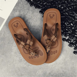 Men Flats Slippers Outdoor Shoes Soft Rope Slip On Flip Flops Male Summer Casual