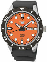 Seiko 5 Automatic Mens Watch. 24 Jewels. Exhibition Back. 100m WR. SRP675K
