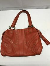 HOT IN HOLLYWOOD Orange Leather and Stud Handbag  GREAT CONDITION!!!
