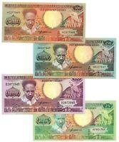 SURINAME SET: 25 100 250 500 Gulden UNC Banknotes (1986-1988) P-132 133 134 135