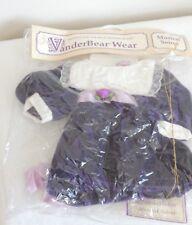 Vanderbear Musical Soiree Fluffy Outfit Purple Velvet