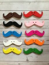 10 Wooden Moustache Buttons Fathers Day Card Making Scrapbook Embellishments