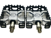 Nos Old School Bmx MONGOOSE Bear Trap 1/2'' BMX Pedals Black/Silver- DHL EXPRESS