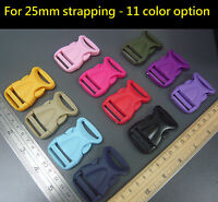 Plastic side release Buckles Clips Sliders For 25mm Strapping Webbing DIY Craft