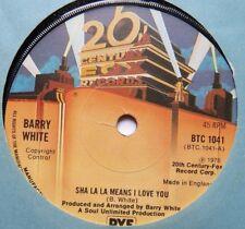 """BARRY WHITE - Sha La La Means I Love You - Ex 7"""" Sin20th Century Fox BTC 1041"""