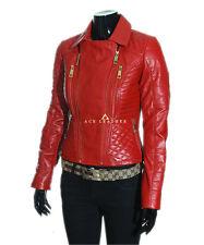 Abrigos y chaquetas de mujer de color principal rojo de piel