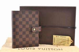 Authentic Louis Vuitton Damier Agenda MM Day Planner Cover R20701 Box LV D5166