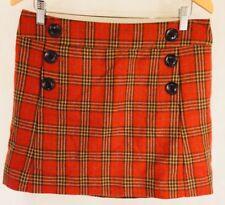NWT Gap Skirt Women's School Girl Tartan Plaid Burnt Orange- Size 6