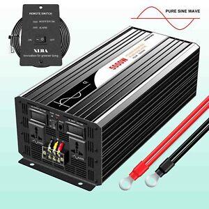 5000W Pure Sine Wave power Inverter DC 12V/24V/48V to AC 120V/230V