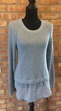 NWT INC Long Sleeve Mixed Media Sweater Womens Sweater Top PL Retail Price: $79