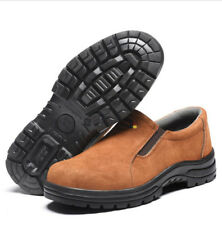 Mens welder Slip On Steel Toe Work Safety Shoes Walking Hiking Welding Boots