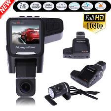 "2"" HD 1080P Dual Lens Car DVR Camera Video Recorder Dash Rear View Cam G-Sensor"