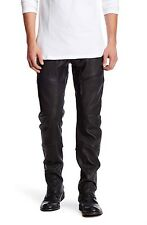 New With Tags Helmut Lang Genuine Black Leather Moto Pants Size 33 $1795.00