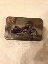 Harley Davidson Motorcycle American Legend Tin w 2 Decks Sealed Playing Cards