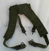 US military army solider suspender M-56 1956 canvas Vietnam era 1973 pouch belt