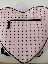 Pottery Barn Kids Emily & Merritt Pink Dotty Heart Backpack & Lunchbox - Nwt