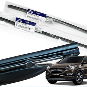 Genuine Parts Windshield Wiper Blade Rubber LH+RH for HYUNDAI 13-18 Santa Fe DM
