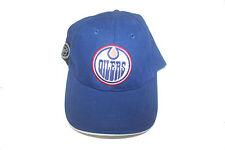 EDMONTON OILERS BLUE NHL HOCKEY LOGO EMBOSSED HAT CAP .. NEW