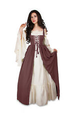 Renaissance Medieval Irish Costume OLD ROSE Over Dress ONLY Fitted Bodice s/m