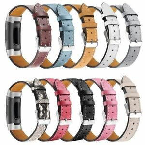 Fitbit Charge 3 4 Replacement Bands Classic Genuine Leather Wristband Strap Band