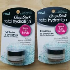 Lot of 2! ChapStick Total Hydration Conditioning Lip Scrub, Fresh Peppermint