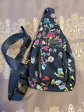 Vera Bradley Recycled Lighten Up Reactive Mini Sling Backpack, Itsy Ditsy Floral