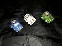 x3 The Italian Job Style Mini cooper Cars Models made of plaster