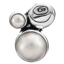 "1"" WHITE MABE PEARL 925 STERLING SILVER pendant"