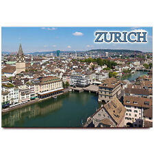 Zurich fridge magnet Switzerland travel souvenir