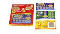 3 Winning Scratch Fake Lotto Lottery Tickets Card Party Toy Joke Fun Prank Trick