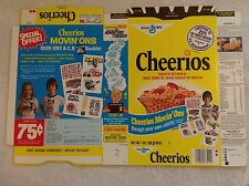 1970s Cheerios Factory Flat Cereal Box~Ad for CB Radio Iron-Ons~7oz~Vintage Prop