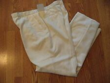 * Womens Sz 14 Sag Harbor Pearly French Ivroy Flat Front Dress Pants Lined