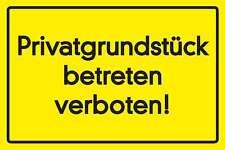 Blechschild - PRIVATGRUNDSTÜCK - BETRETEN VERBOTEN WARNSCHILD -  20x30 cm 23050