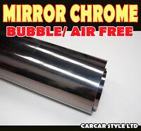 Mirror Chrome【BLACK 600MM X 1520MM 】Wrap Vinyl【BUBBLE FREE】Vehicle Sticker