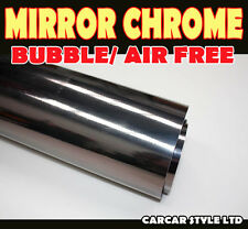 Mirror Chrome【BLACK A4 200MM X 300MM 】Wrap Vinyl【BUBBLE FREE】Vehicle Sticker