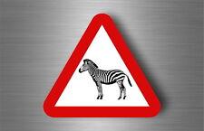 Sticker decal warning car fridge road sign warning zebra