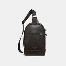 New Authentic COACH F37598 Men Graham Sling Pack Shoulder Bag Backpack Black
