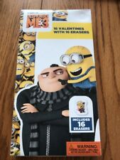 Despicable Me3 16 Valentines With 16 Erasers By Illumination Ships N 24h