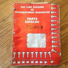 International Ih Td-20B Parts Manual Book Catalog List Crawler Tractor Bulldozer