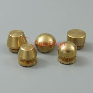 Solid Brass Screw Head Screw back Feet Purse Handbag Nailheads Spike Spot Stud