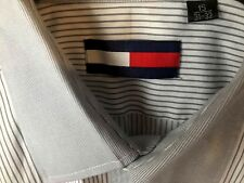 Tommy Hilfiger Flag Striped Men's Dress Shirt size S/M 15 31-32