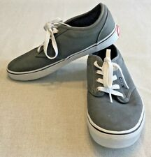 5570663770f8e4 VAN S Brand Youth Size 7 M Grey Canvas Athletic Tie-Up Shoes