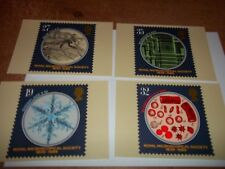 Royal Microscopicial Society  PHQ 120 set Royal Mail Stamp Card Series  MINT