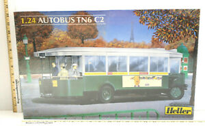 Vintage Heller 1/24 Autobus TN6 C2 Plastic Model Kit #80789 NIB Made In France