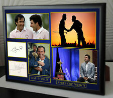 """SEVE  OLLIE RYDER CUP Golf Framed Canvas Tribute Print Signed """"Great Gift"""""""