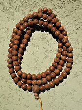 Tibetan Buddhist Prayer Bead Mala 108 Bead Bodhi Seed (3-Eyed Beads)